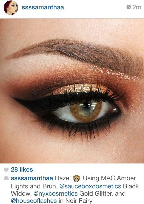MAC eye makeup soft brown smokey eye