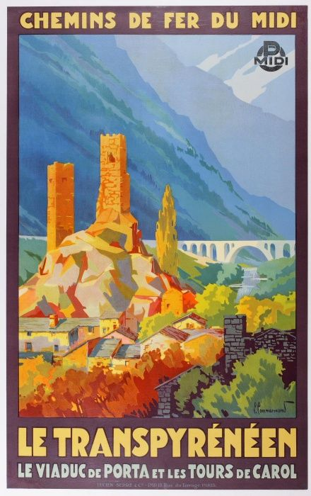 Pyrenees region, France, by train, 1930s