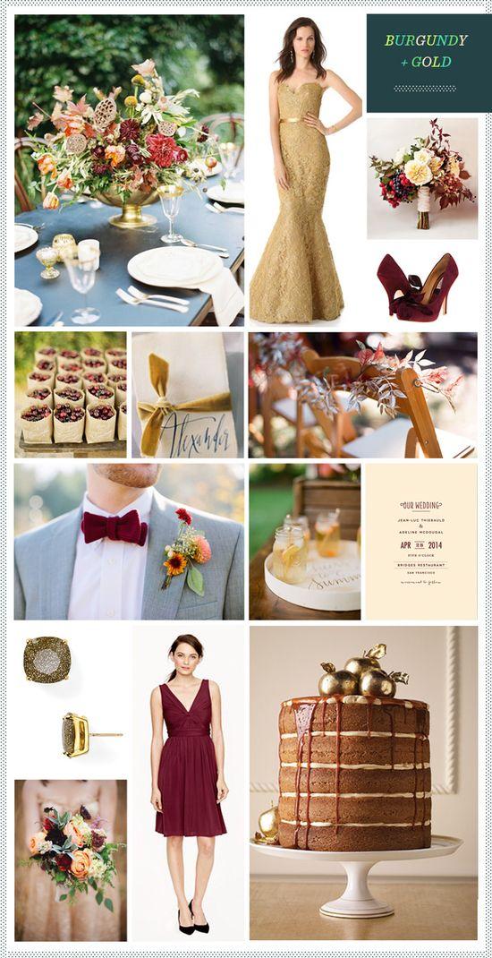 REVEL: Burgundy + Gold Wedding Inspiration