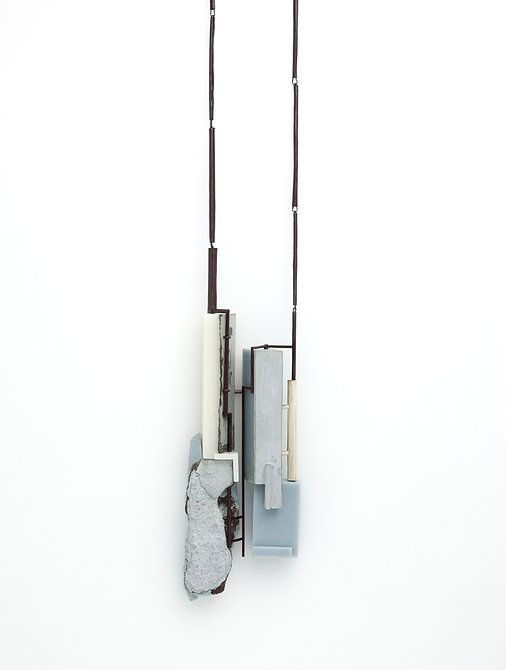 "Joohee Han | ""The scene of street "" necklace_resin, brass, cement_2012"