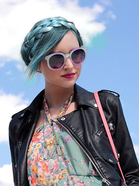 blue hair pictures turquoise seafoam pastel