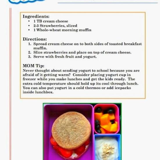 Sample MOMables school lunch menu item #schoollunch #backtoschool www.momables.com
