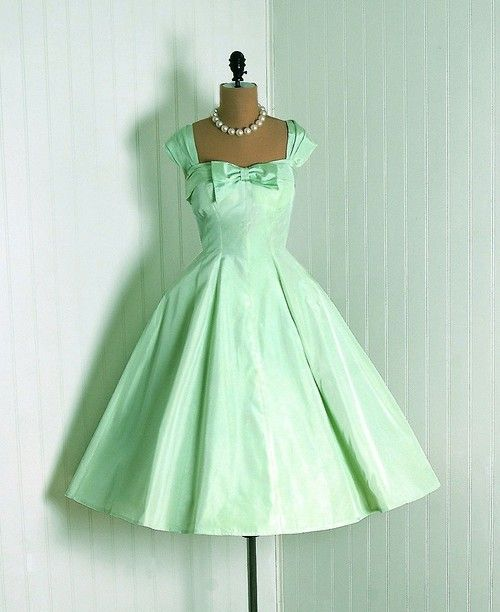1950s dress--gorgeous color and style!
