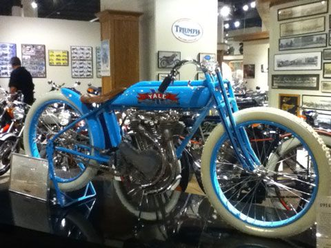 1914 Yale boardtrack racer at the National Motorcycle Museum in Anamose, Iowa.