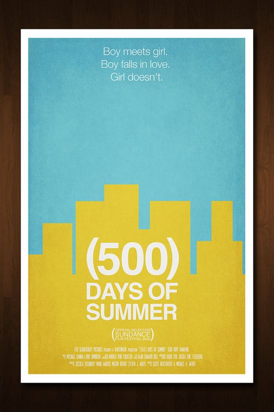 500 Days of Summer Minimal Movie Poster - Inspired by the Marc Webb film.