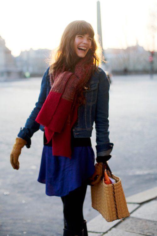 cute hair + huge scarf