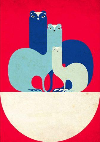 animal family poster...