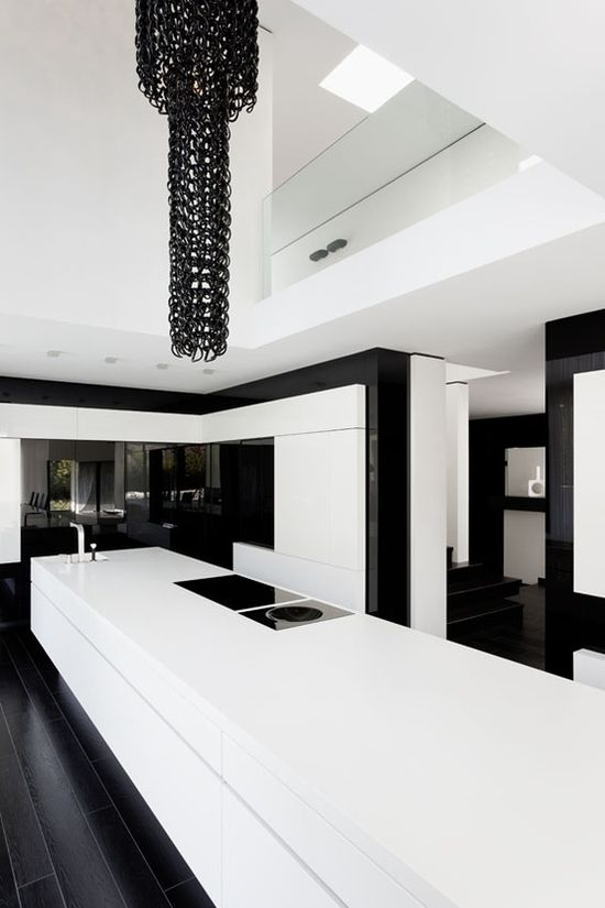 Clean Black & White Kitchen.