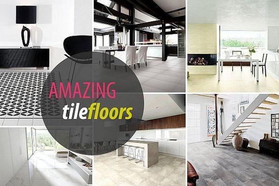 Tile Floor Design Ideas  AMAZING TILE FLOORS