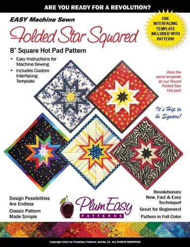 #Pattern #Folded #Star #Hot #Pad #Square by Plum by GabbysQuiltsNSupply, $11.50