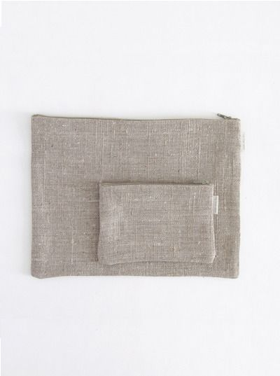 supply paper co. - natural linen pouch
