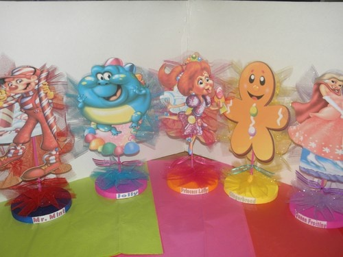 Candy Land Birthday Party  Centerpieces