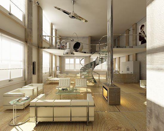 Wooden textured Floor Interior Design