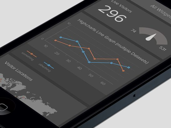 dark 20 Fantastic Examples of Flat UI Design In Apps
