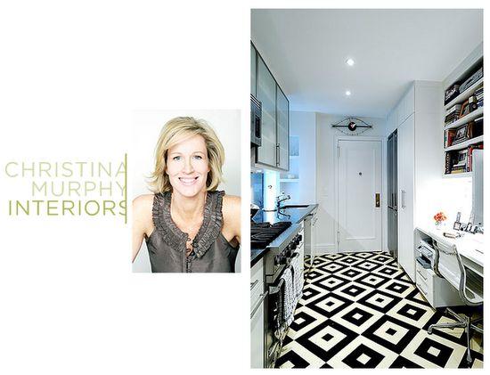love this kitchen floor, designer christina murphy.