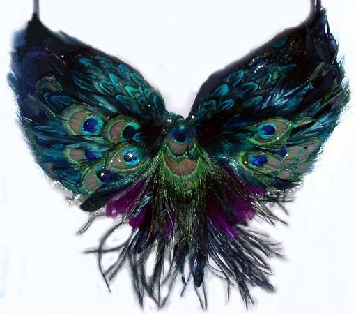 Tribal Peacock Feather Belly Dance BRA custom by sajeeladesign, 95.95 USD