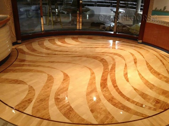 Czar flooring on a yacht. Gorgeous