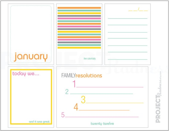 january printable $2 #projectlife #scrapbooking #projectradness