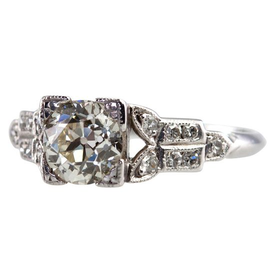 Charming Engagement Ring With .97ct Diamond