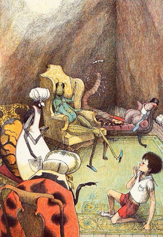 James and the Giant Peach - Roald Dahl -illustration - Nancy Ekholm Burkert