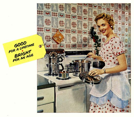 Good for a lifetime - bright for an age. #vintage #1950s #kitchen #homemaker