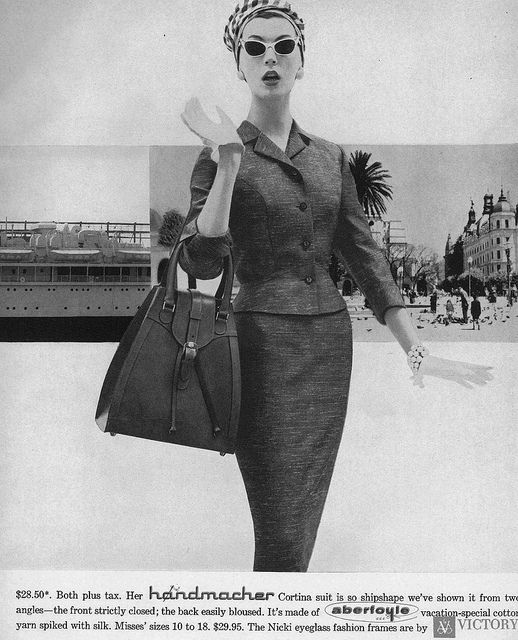 Like, hello I'm fabulous!  #suit #vintage #fashion #1950s