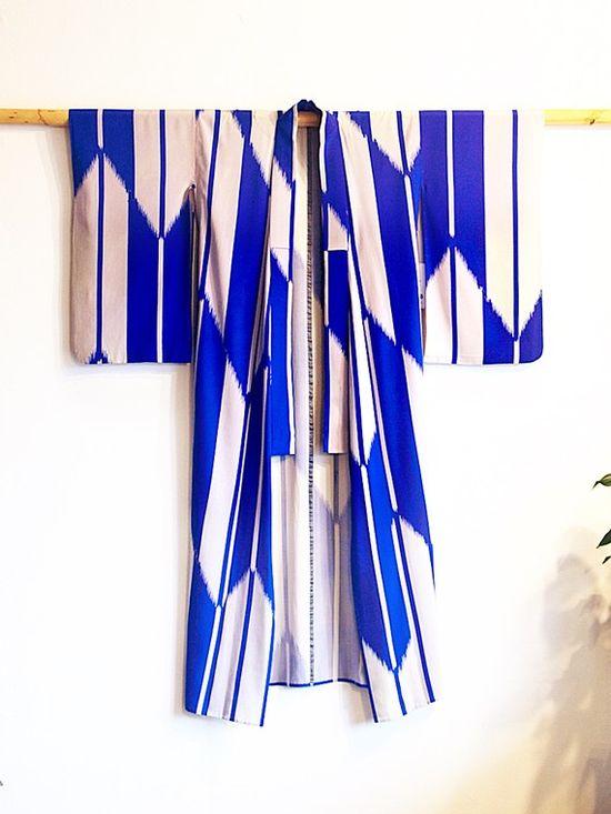 cobalt-vintage kimono
