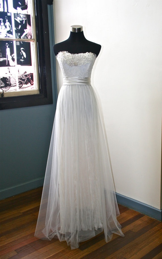 Ethereal Garden Wedding Dress by sunnybythesea on Etsy, $1380.00