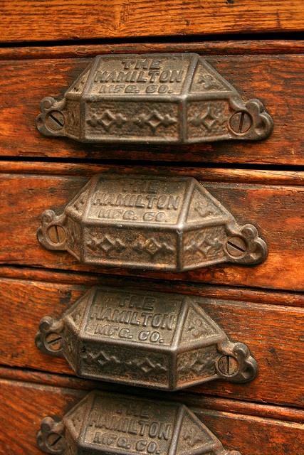 Lettertype drawer handles...