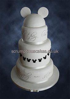 Black & White Disney Wedding Cake