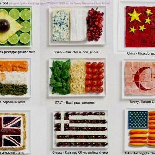flagi narodowe z potraw