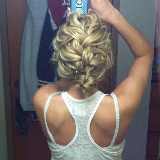 Cute messy french braid!