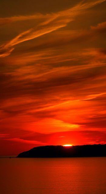 Fiery Sunset - Glen Arbor, Michigan