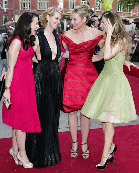 The SATC ladies during the 2008 London premiere of Sex and the City: The Movie.