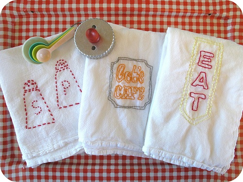 Vintage embroidery flour sacks