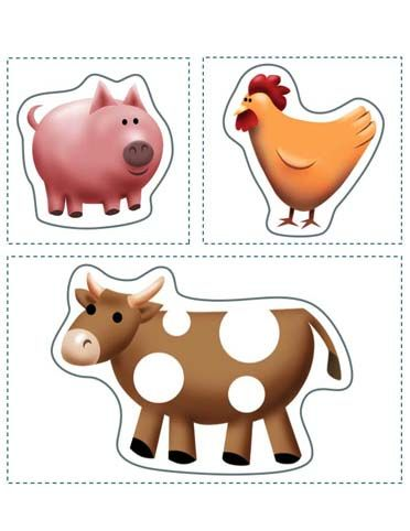 At the farm printable. Creates a full barnyard scene with your favourite animals