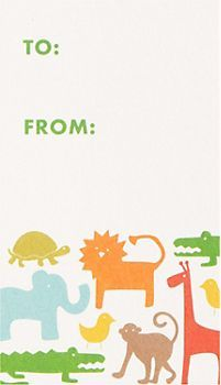 Baby Animals Gift Tags