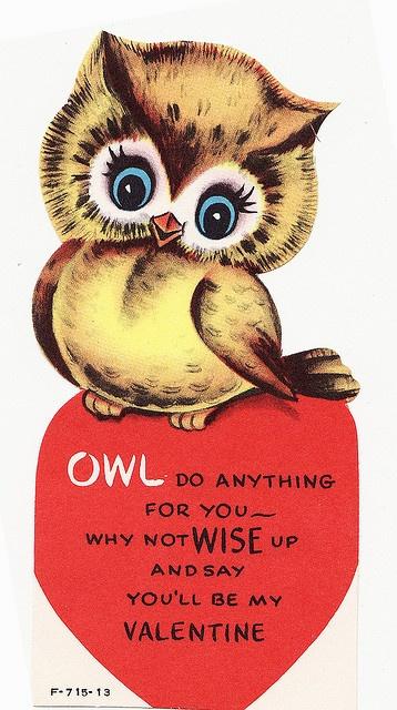 Vintage Owl Valentine