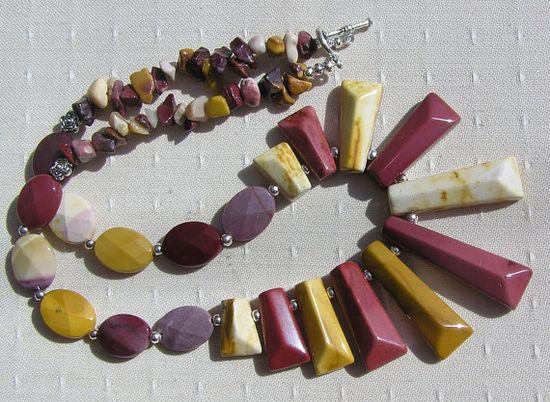 Mookaite Jasper Crystal Gemstone Necklace  Desert by SunnyCrystals, $46.00