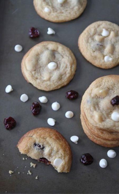 Cherry Vanilla White Chocolate Chip Cookies #cherry #chocolate #cookies