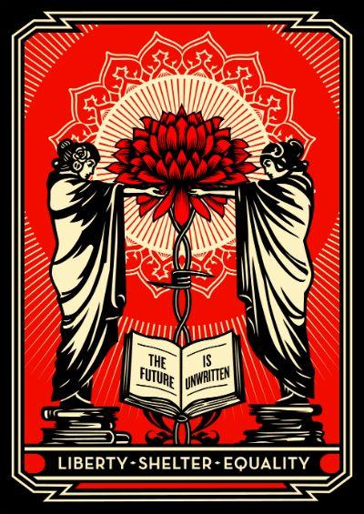 Shepard Fairey print.