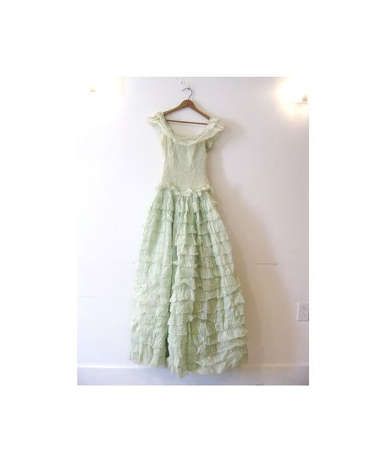 vintage party dress #mint #ruffle #dress