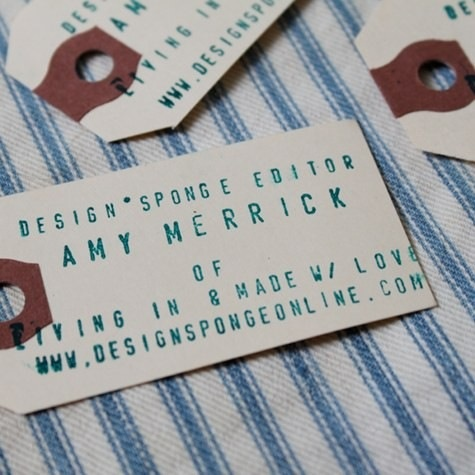 Business card - Found object design