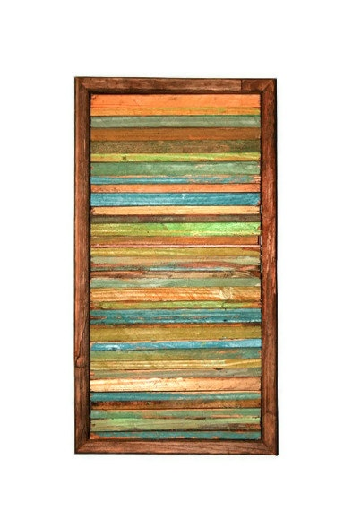 SALE Abstract Painting on Wood Reclaimed Wood Sculpture Modern Wall Art.