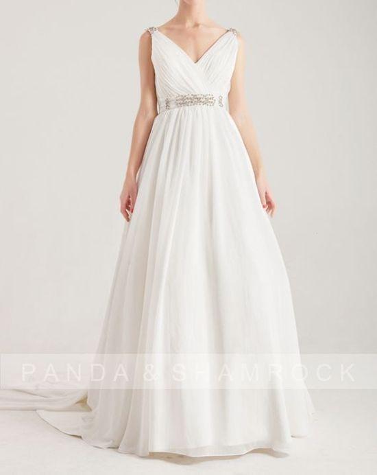 Eos/wedding gown/bridal dress/bride/custom made/plus size/long sleeves/vintage style. 370.00, via Etsy.