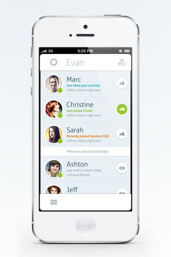 Circle version by musHo #UI #iPhone #mobile #simple #app