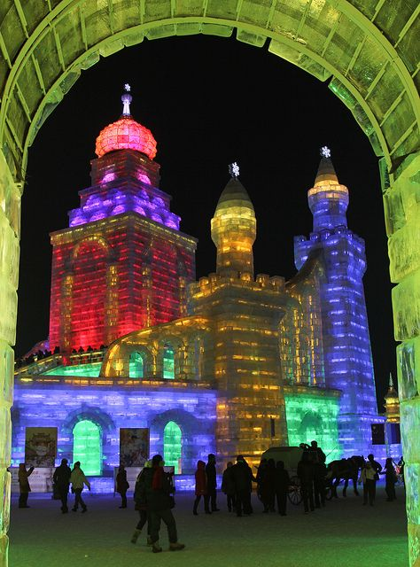 Russian ice castles at the Harbin Ice Festival - China