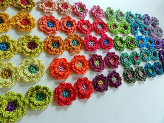 Crochet Flowers ? 4U // hf