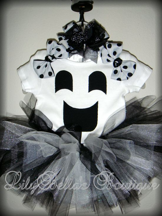 Cute ghost tutu Halloween costume