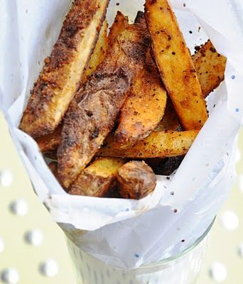 Baked Cajun Fries by Honey #Fries